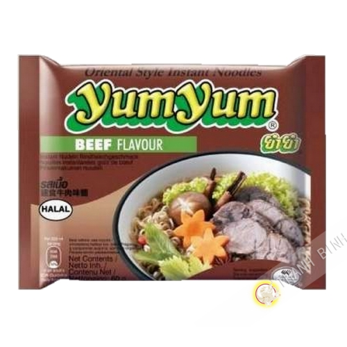 Soup noodle with beef, YUM YUM 60g Thailand