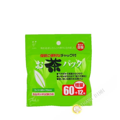 Filtro de té de ocha pack ZENMI 72pcs Japón