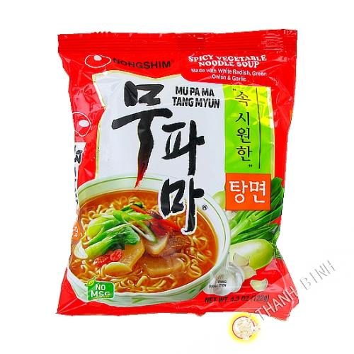 Soupe nouille végétarienne Mupama Tang Myun NONGSHIM 122g Corée