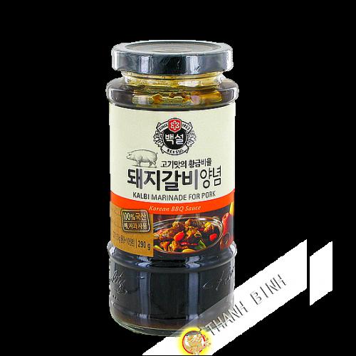 La salsa de la marinada Kalbi barbacoa de carne de cerdo BEKSUL 290 g Corea
