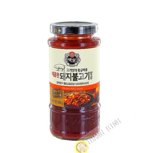 Salsa marinata Bulgogi barbecue di maiale piccante BEKSUL 290g Corea