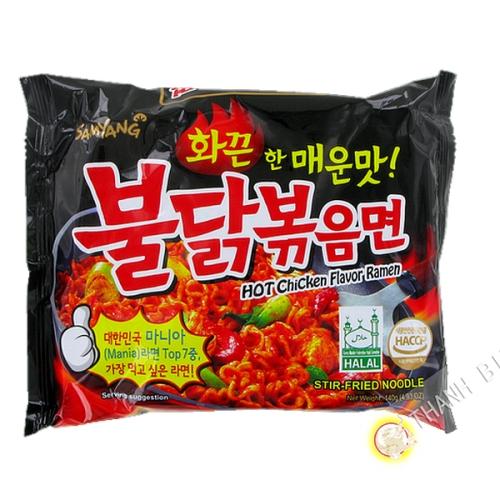 Noodle ramen, fritto di pollo piccante SAMYANG 140g di Corea