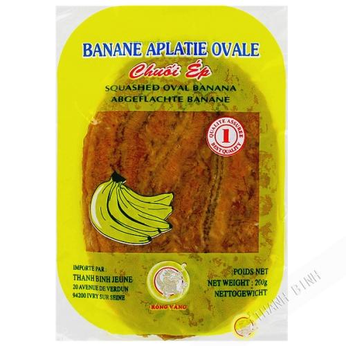 Banana aplastada oval 200g