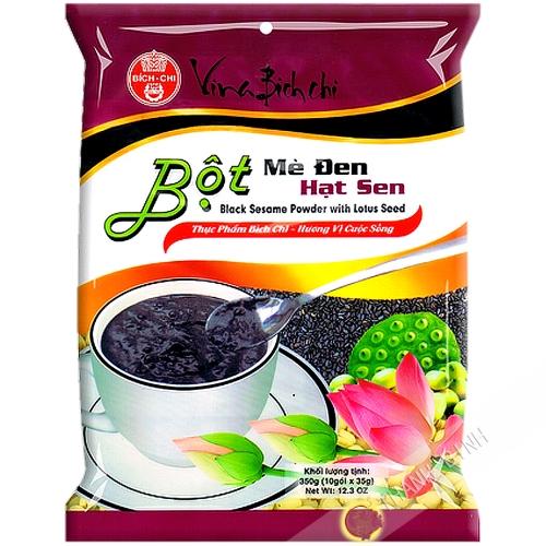La preparación de la bebida de sésamo lotus BICH CHI 350g de Vietnam