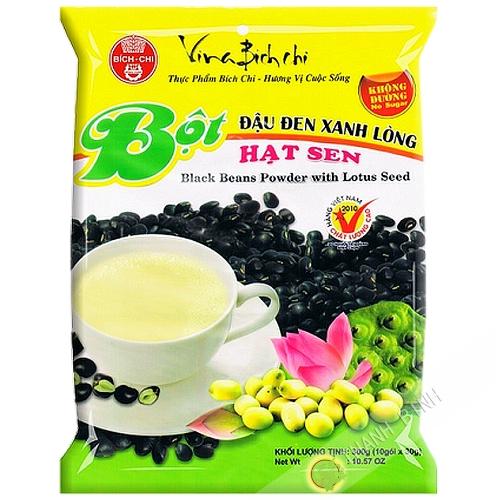 La preparación de la bebida de frijol negro lotus BICH CHI 350g de Vietnam