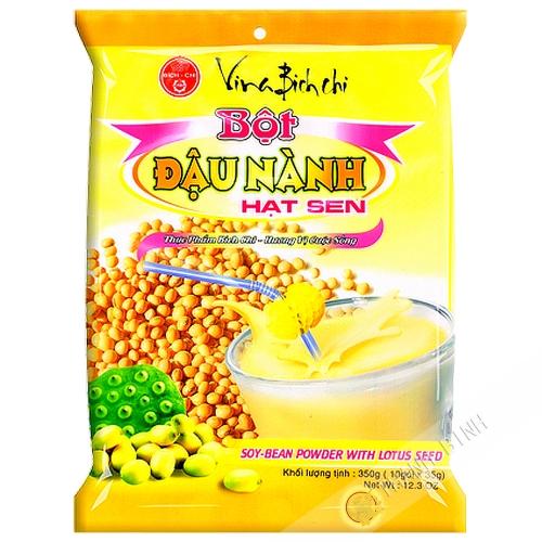 La preparación de la bebida de frijol amarillo, lotus BICH CHI 350g de Vietnam