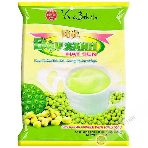 La preparación de la bebida de la haba de mung lotus BICH CHI 350g de Vietnam