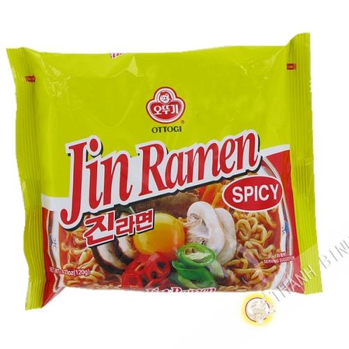 Soup noodle Jin Ramen Hot OTTOGI 120g Korea