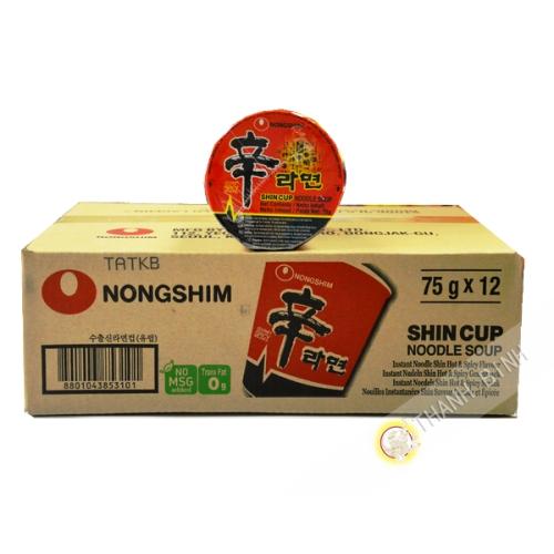Zuppa di Shin Ram Yum coppa 12x75g - Corea