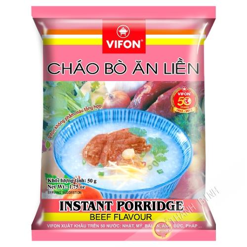 Suppe, reis, rindfleisch, VIFON 50g Vietnam