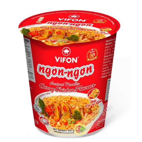 Soup noodle curry chicken Bowl NGON NGON VIFON 60g Vietnam