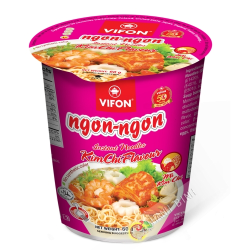 Sopa de fideos kimchi tazón VIFON 60g de Vietnam