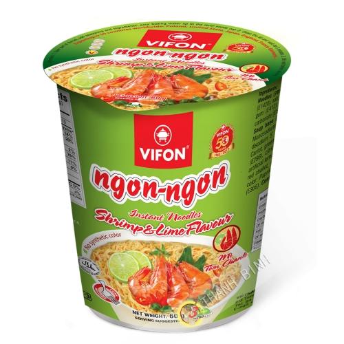 Sopa de fideos con Camarones de Limón en un Tazón VIFON 60g de Vietnam
