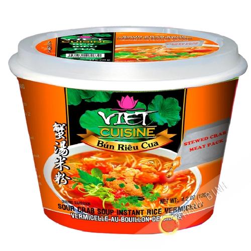 Sopa con fideos de bun rieu cua Tazón de VIET COCINA VIFON 120g de Vietnam
