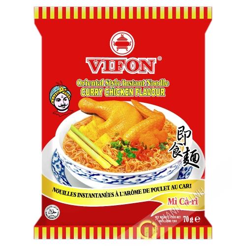 Sopa de fideos con pollo al curry VIFON 70g de Vietnam