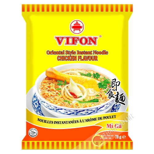 Sopa de fideos de pollo VIFON 70g de Vietnam