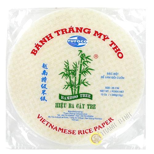 Papel de arroz 28cm de rodillos de primavera 3 de Bambú Vietnam 340g