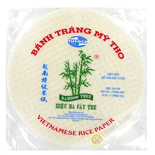 Rice cake 28cm 3 Bamboo Vietnam 340g