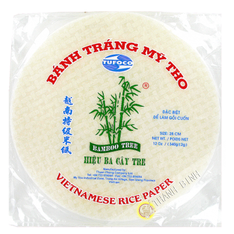 Galette de riz 28cm 3 Bambou Vietnam 340g