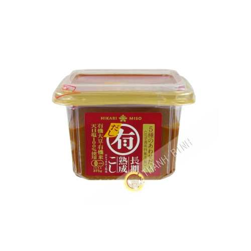 Miso paste Dashi Organic HIKARI 375g Japan