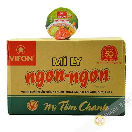Soup instant Shrimp Lemon NGON NGON VIFON Bowl 24x60g Vietnam
