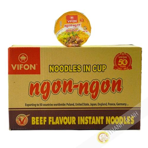Sopa de carne de res Tazón Ngon Ngon 24x60g - Viet Nam