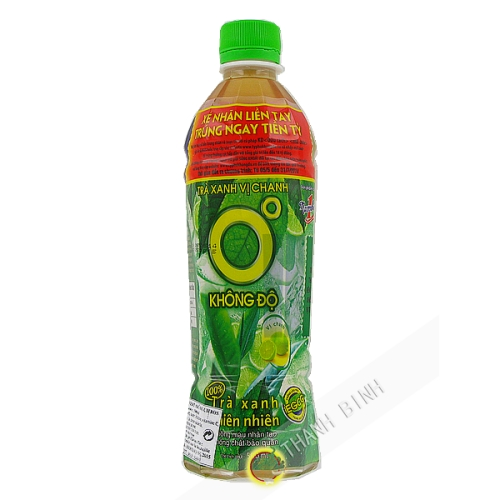 Drink green Tea lemon NUMBER 1 - 500ml Vietnam