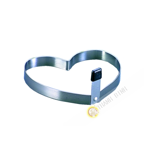 Mold stainless steel for ooeuf heart-shaped 9x10cm SANADA Japan
