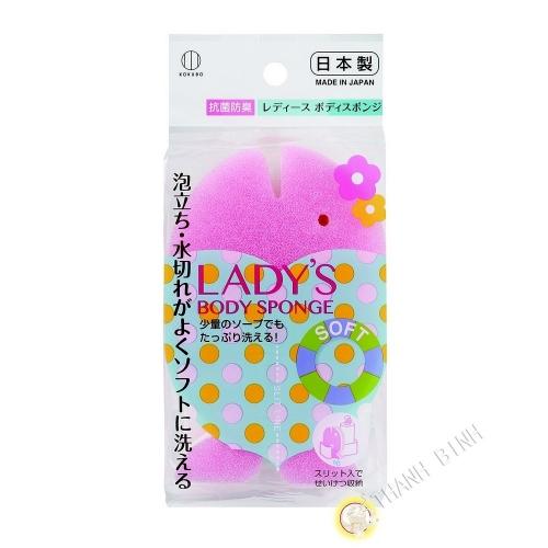 Eponge à bain femme doux 9x14x4cm KOKUBO Japon
