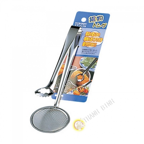Clamp pan Ø3,5cm + skimmer Ø8cm combined stainless steel 18cm ECHO Japan