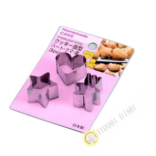 Size cake stainless lot 3pcs Ø2,5cm KOHBEC Japan