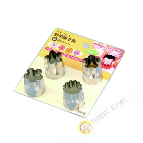 Moule coupe légumes inox, lot de 4pcs Ø2,5cm KOHBEC Japon