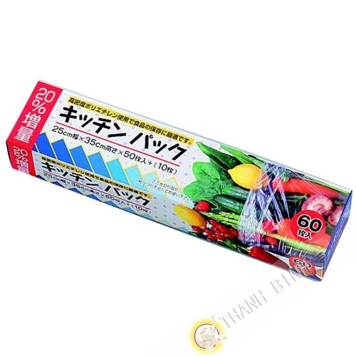 Sac alimentaire 60p 25x35cm KOHBEC Japon