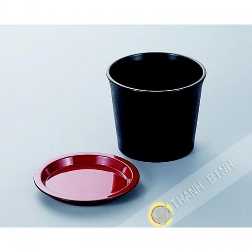 Piccola ciotola di salsa di soba plastica laccato 7,5xH6cm KOHBEC Giappone