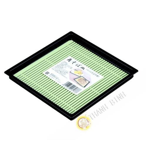 Assiette carrée à soba plastique 18cm KOHBEC Japon