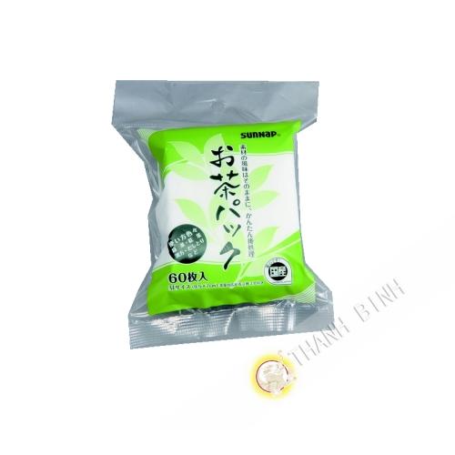 Filtre à thé ocha pack 9,5x7cm 60pcs Sunnap KOHBEC Japon