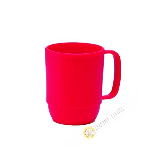 Small mug cup plastic micro-ondable red 350ml 7,5x9,5cm INOMATA Japan