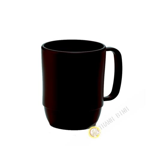 Piccola tazza tazza di plastica micro-ondable marrone 350ml 7,5x9,5cm INOMATA Giappone