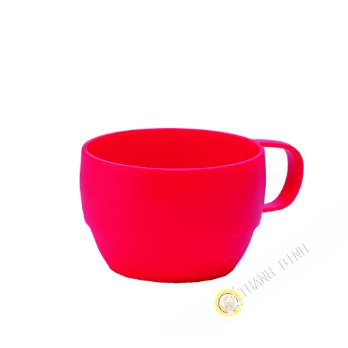 Tasse plastique micro-ondable rouge 350ml 6x9,5cm m-o INOMATA Japon