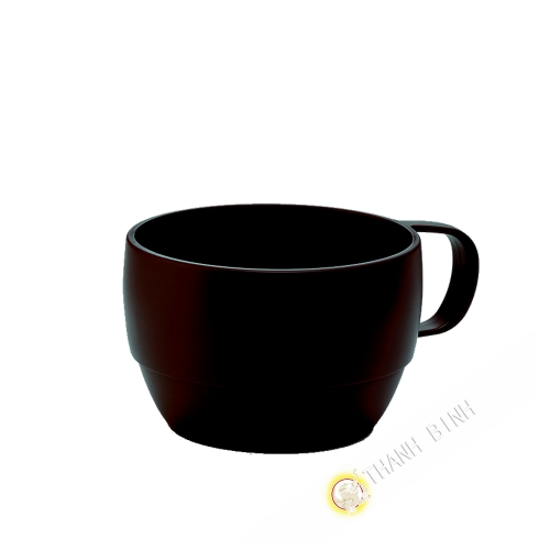 Cup plastic micro-ondable brown 350ml 6x9,5cm m-o INOMATA Japan