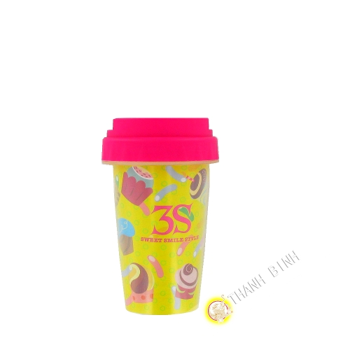 Cup plastic reusable 200ml KOHBEC Japan (1pc)