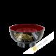 Soup bowl plastic black lacquered 11,5xH5,5cm KOHBEC Japan