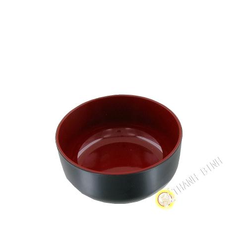 Bol à soupe plastique laqué 12,5xH6cm KOHBEC Japon