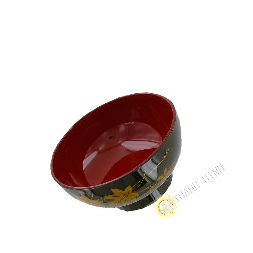 Bol à soupe plastique laqué 11,5xH5,5cm KOHBEC Japon