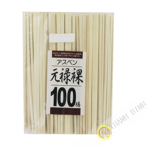 Baguette jettable en bois 20cm, lot de 100 paires KOHBEC Chine