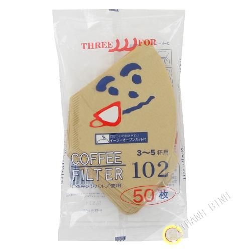 Filtro de café de papel de 10 cm de 50pcs 102 KOHBEC Japón