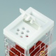 Box spice powder, brown plastic 7 holes Ø0,2cm 4x9cm INOMATA Japan