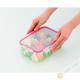 Boîte alimentaire hermétique + couvercle plastique rectangulaire 1.3L 14x20xH7cm INOMATA Japon