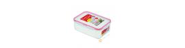 Boîte hermétique + couvercle plastique rectangulaire 1.3L 14x20xH7cm INOMATA Japon