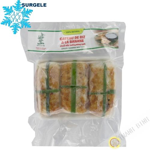 Gâteau de riz à la banane 3 BAMBOU 500g Vietnam - SURGELES